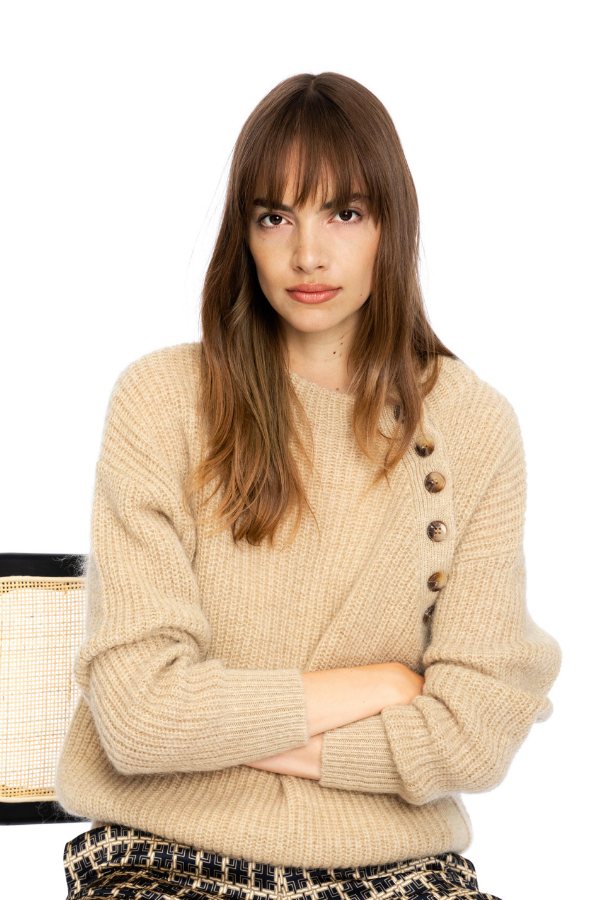 cable-buttoned-sweater