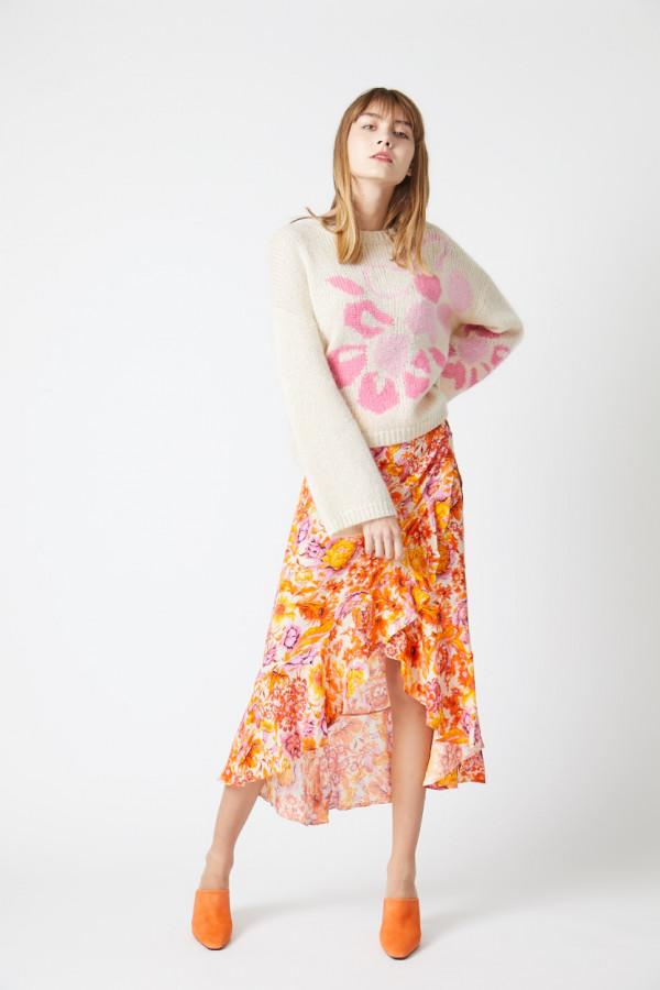 floral-print-wrap-skirt