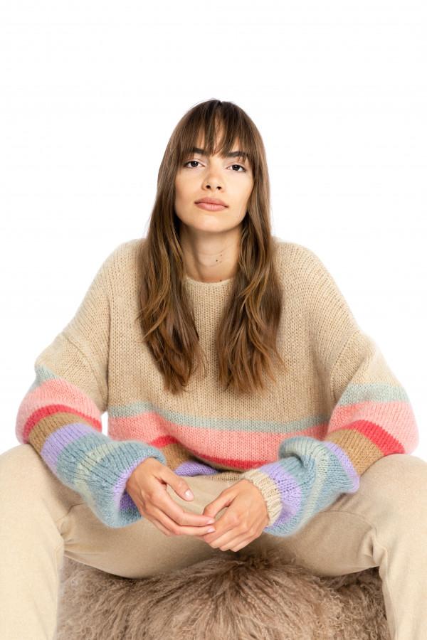 multicolor-striped-sweater