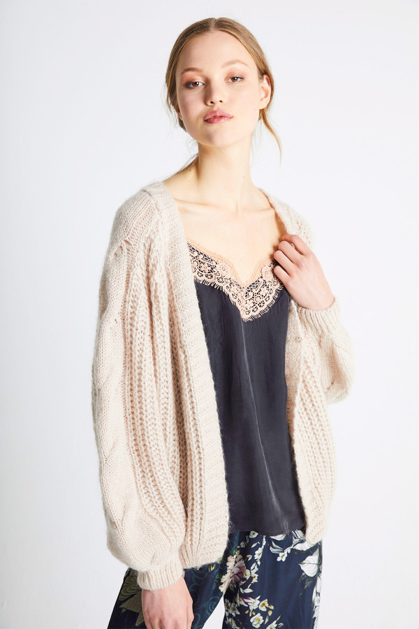 twisted-sleeve-cardigan